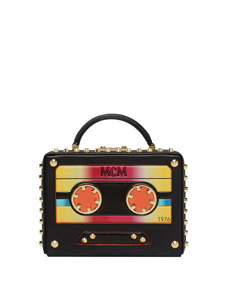 MCM Berlin Small Cassette Tape Crossbody Bag