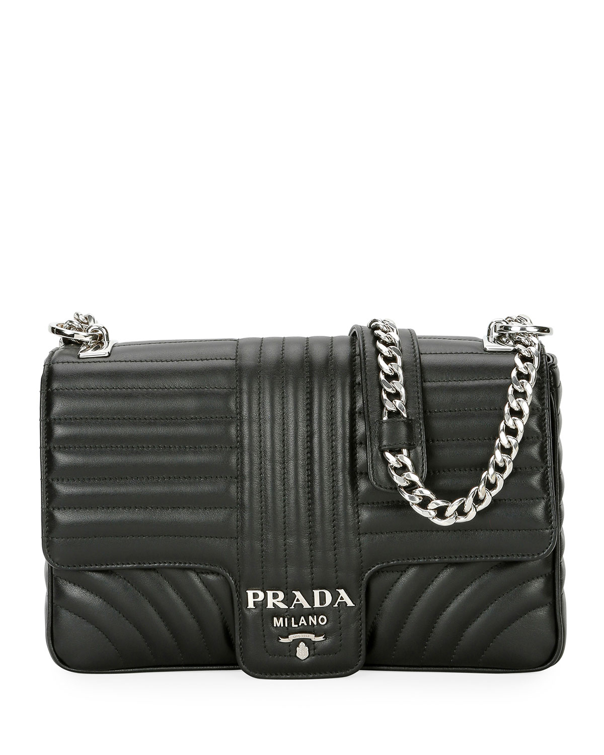 Prada Large Diagramme Shoulder Bag W   Chain Strap