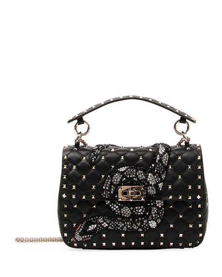 Spike.It Medium Snake Shoulder Bag