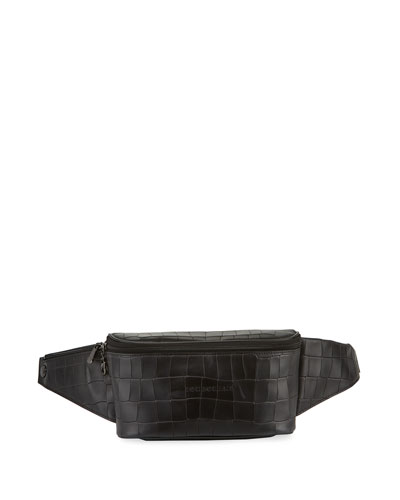 Crocodile-Embossed Belt Bag/Fanny Pack