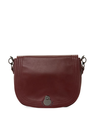 Alezane Large Leather Shoulder Saddle Bag