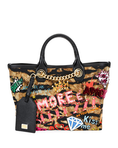 Capri Graffiti Small Stampa Iguana Tote Bag