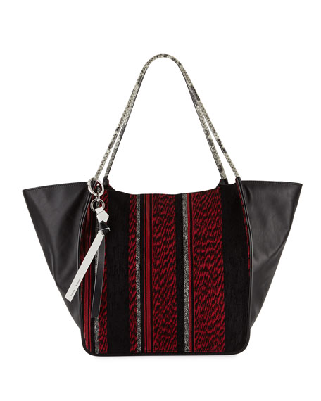 Extra-Large Mixed Woven Tote Bag