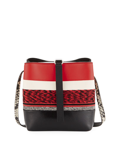 Frame Mixed Media Crossbody Bag