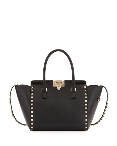 Rockstud Mini Leather Shopper Tote Bag