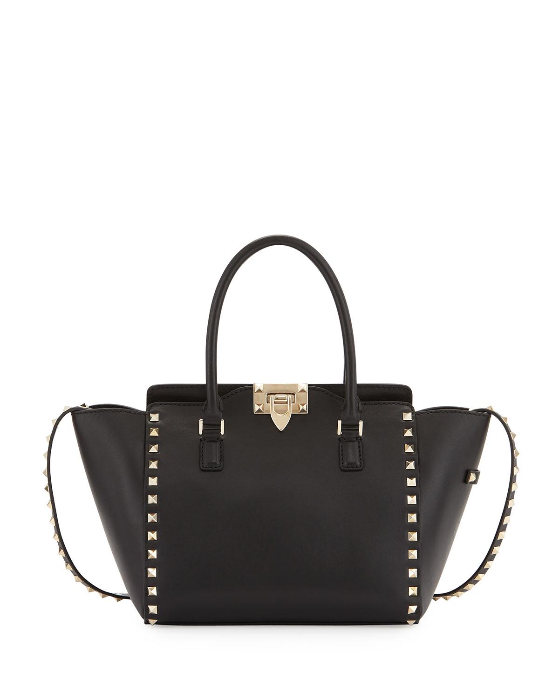 20f97cf199 Valentino Garavani Rockstud Mini Leather Shopper Tote Bag   Neiman ...