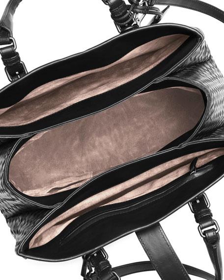 Roma Small Woven Compartment Tote Bag