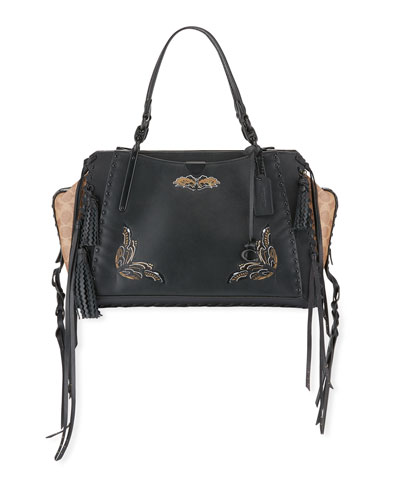 Tattoo Dreamer 36 Signature Coated Canvas Satchel Bag
