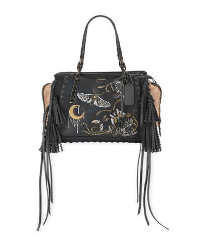 Tattoo Dreamer Signature Coated Canvas Satchel Bag