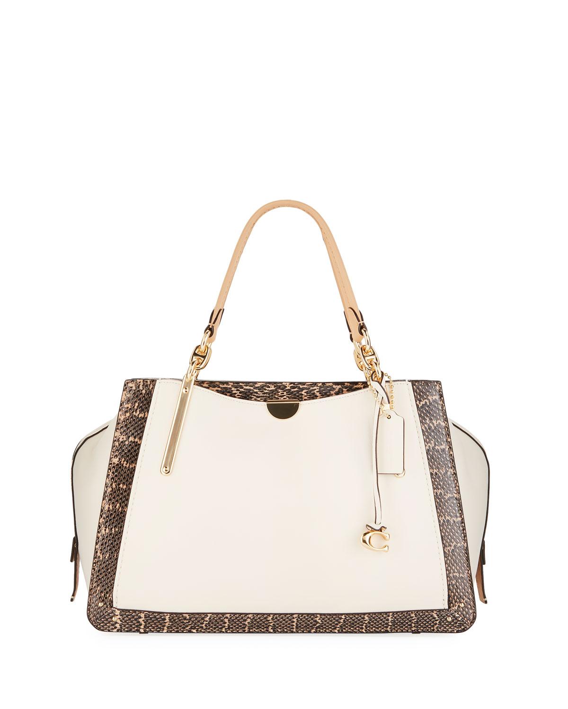 Coach Dreamer 36 Exotic Colorblock Satchel Bag  419f216c87d11