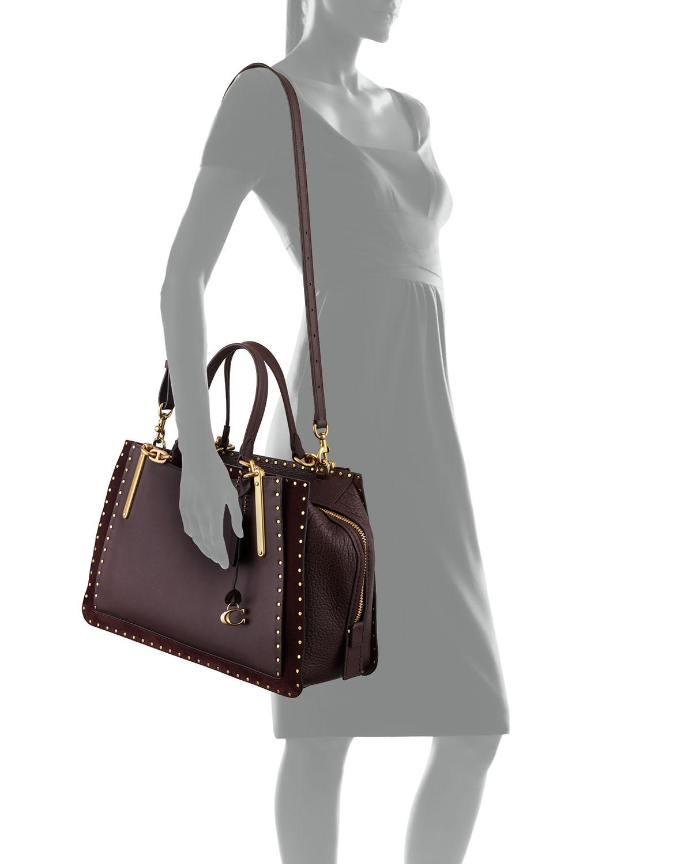 d9847b131e at Saks Fifth Avenue · Coach Border Rivets Leather Shoulder Bag
