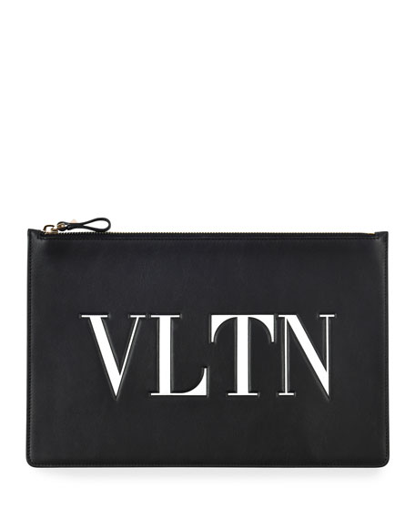 VLTN Large Flat Pouch Clutch Bag