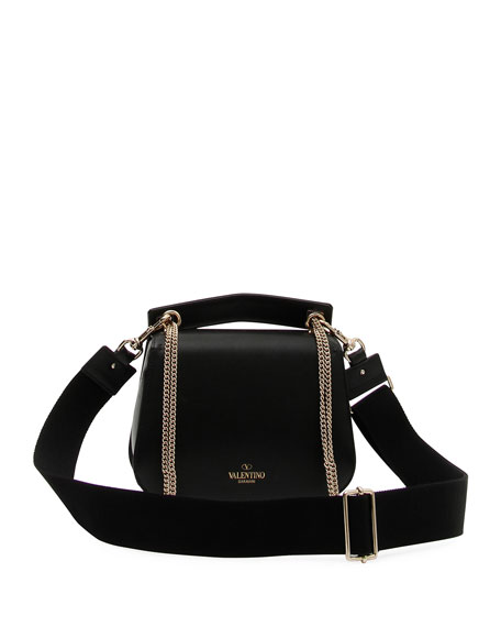 VLTN Smooth Leather Chain Shoulder Bag