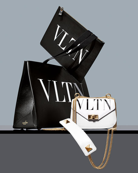 VLTN Small Smooth Leather Chain Shoulder Bag