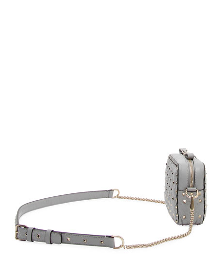 Rockstud Spike Quilted Leather Camera Crossbody Bag