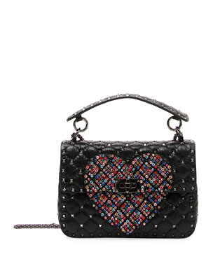 353be2647d124 Valentino Garavani Spike.It Medium Quilted Heart Shoulder Bag