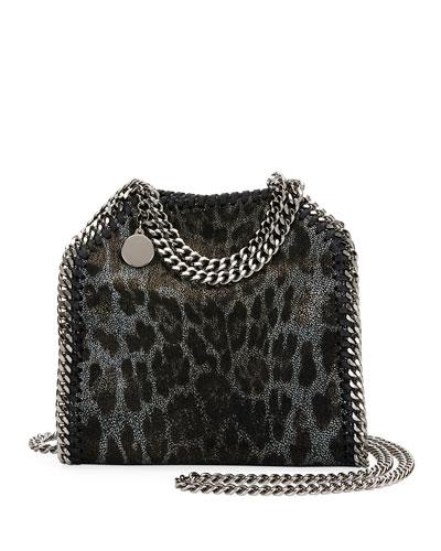 Falabella Tiny Leopard Tote Bag