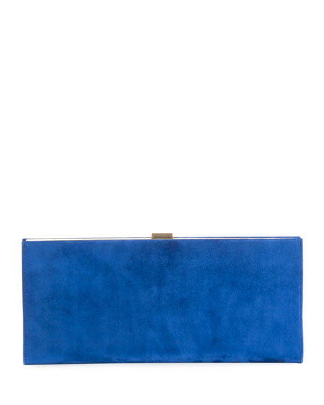Club Chain Suede Clutch Bag