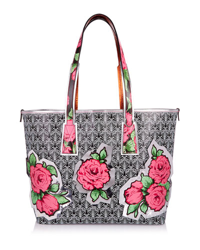 Liberty London Rq Lt Marlborough Rose Tote Bag