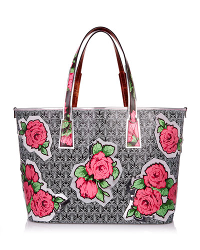 Liberty London Rq Iphis Marlborough Rose Tote Bag