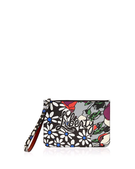 Liberty London RQ Daisy Tulip Wristlet Pouch Bag