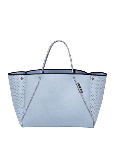Guise Perforated Tote Bag, Denim Super Fade