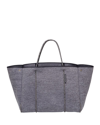 Escape Perforated Tote Bag, Charcoal