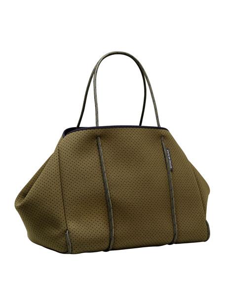 Escape Perforated Tote Bag, Khaki