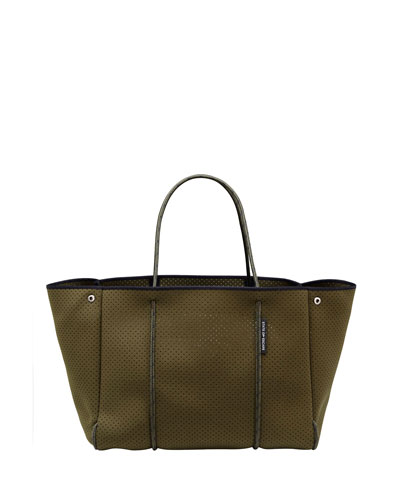 Escape Perforated Tote Bag  Khaki