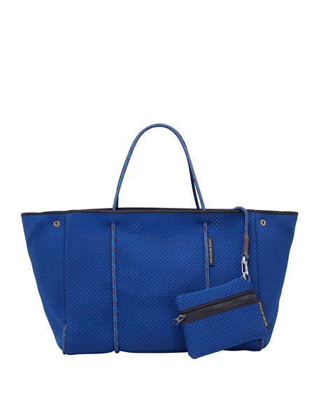Escape Perforated Tote Bag, Navy