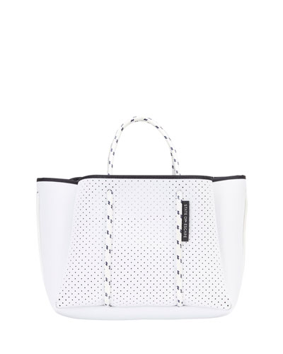 Petit Escape Perforated Tote Bag  White