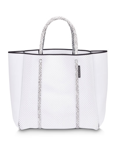 Cityscape Mark II Perforated Tote Bag  White