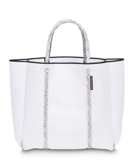 Cityscape Mark II Perforated Tote Bag, White