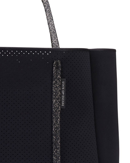 Cityscape Mark II Perforated Tote Bag, Black