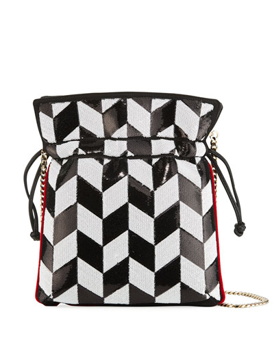 Trilly Tiles Sequined Crossbody Bag