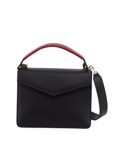 Pixie Geometric Leather Satchel Bag