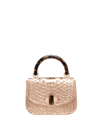 Python Mini Top Handle Bag