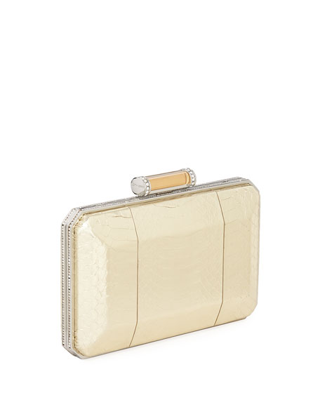 Soho Snakeskin Box Clutch Bag