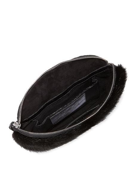 Crocodile and Fur Belt Bag/Fanny Pack