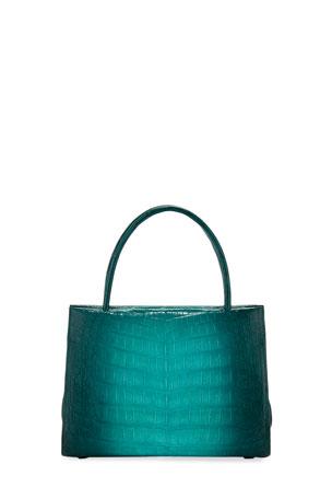 Nancy Gonzalez Wallis Mini Ombre Crocodile Top Handle Bag