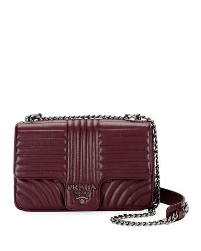 Large Diagramme Shoulder Bag w/ Chain Strap