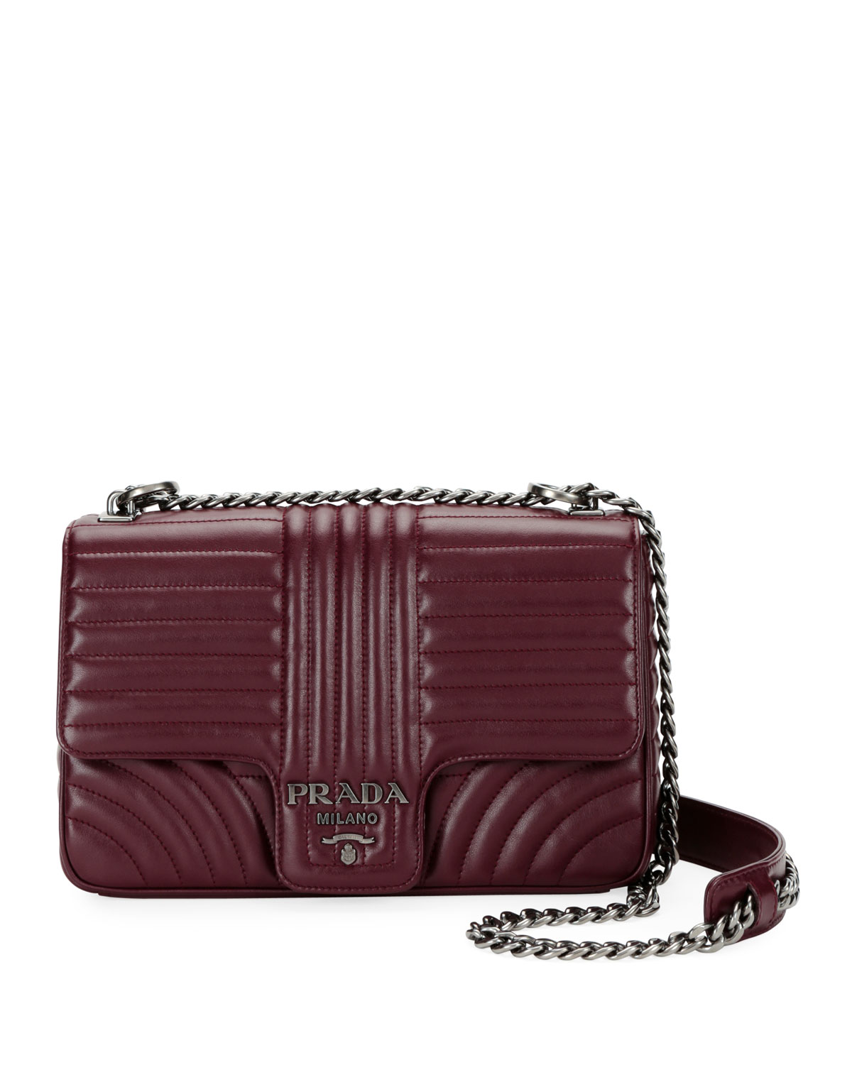 Prada Large Diagramme Shoulder Bag w  Chain Strap  bb7feaed57246