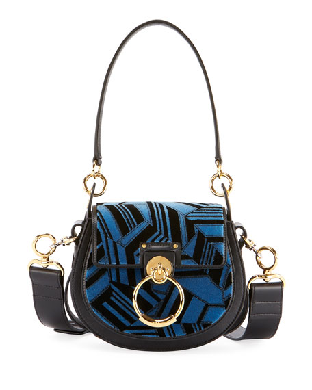 Chloe Tess Small Embroidered Leather Camera Crossbody Bag