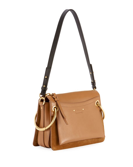 Roy Small Leather/Suede Satchel Bag