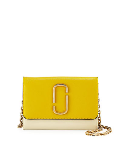 951126928046 Marc Jacobs Two-Tone Saffiano Leather Wallet On A Chain