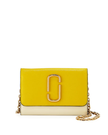 Marc Jacobs Two-Tone Saffiano Leather Wallet On A