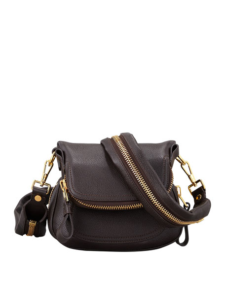 TOM FORD Jennifer Mini Pebbled Leather Crossbody Bag