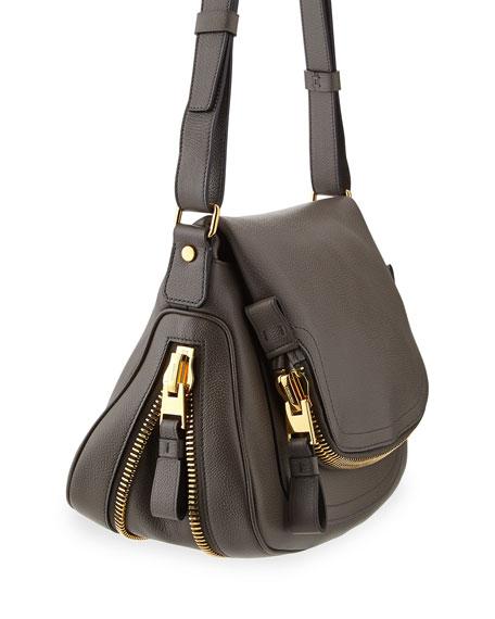 Jennifer Medium Pebbled Leather Shoulder Bag