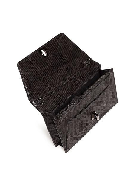 Anouk Mini Envelope Lizard Crossbody Bag