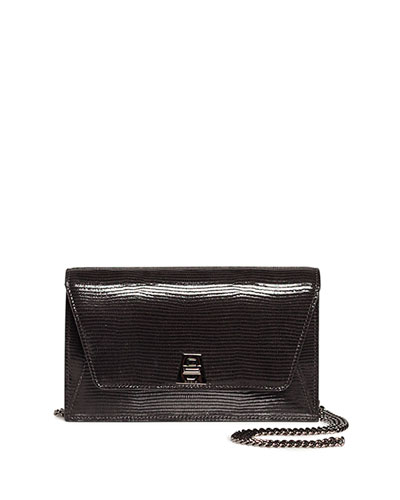 Anouk Mini Envelope Lizard Crossbody Bag